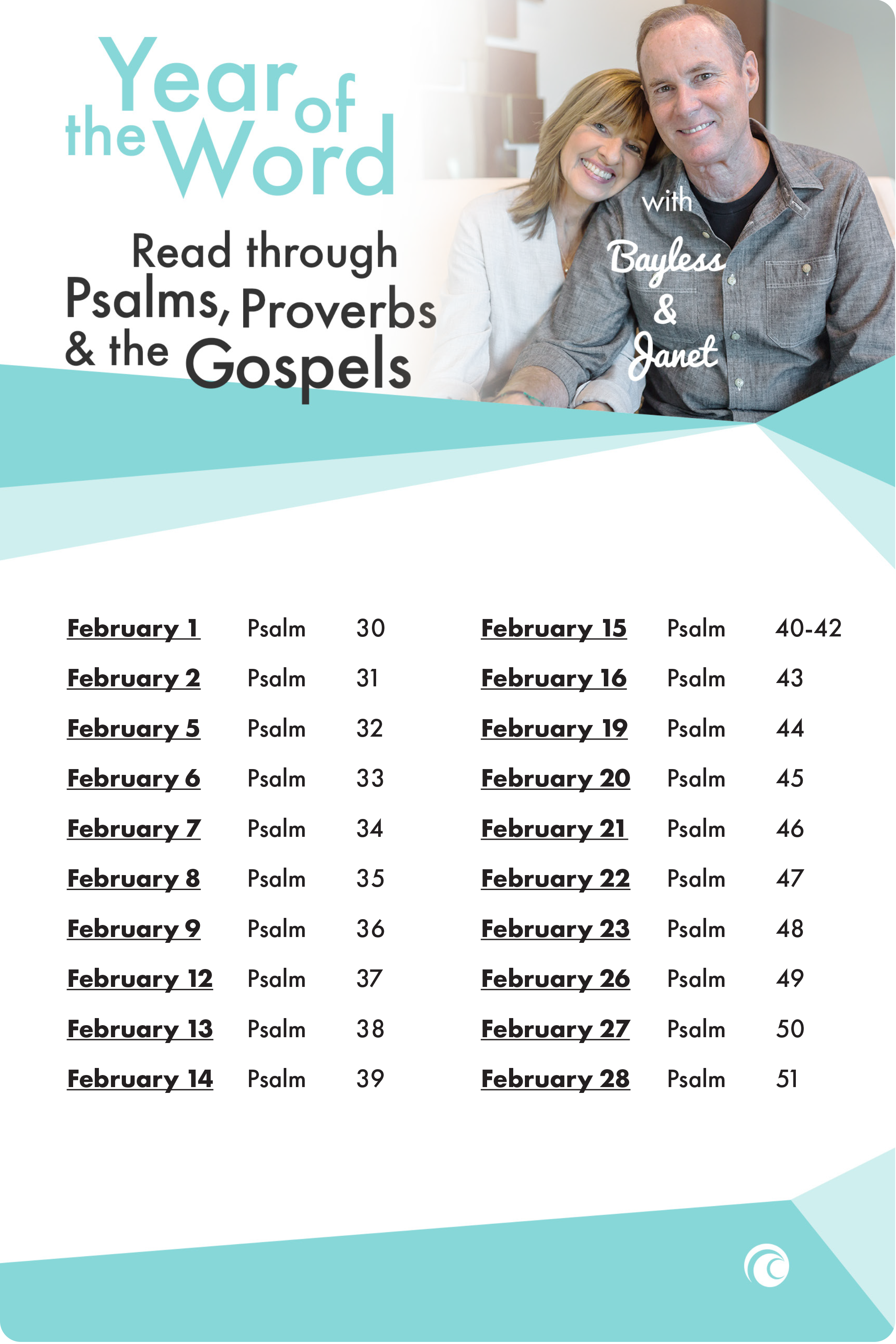 Year of the World Psalms Proverbs Gospels