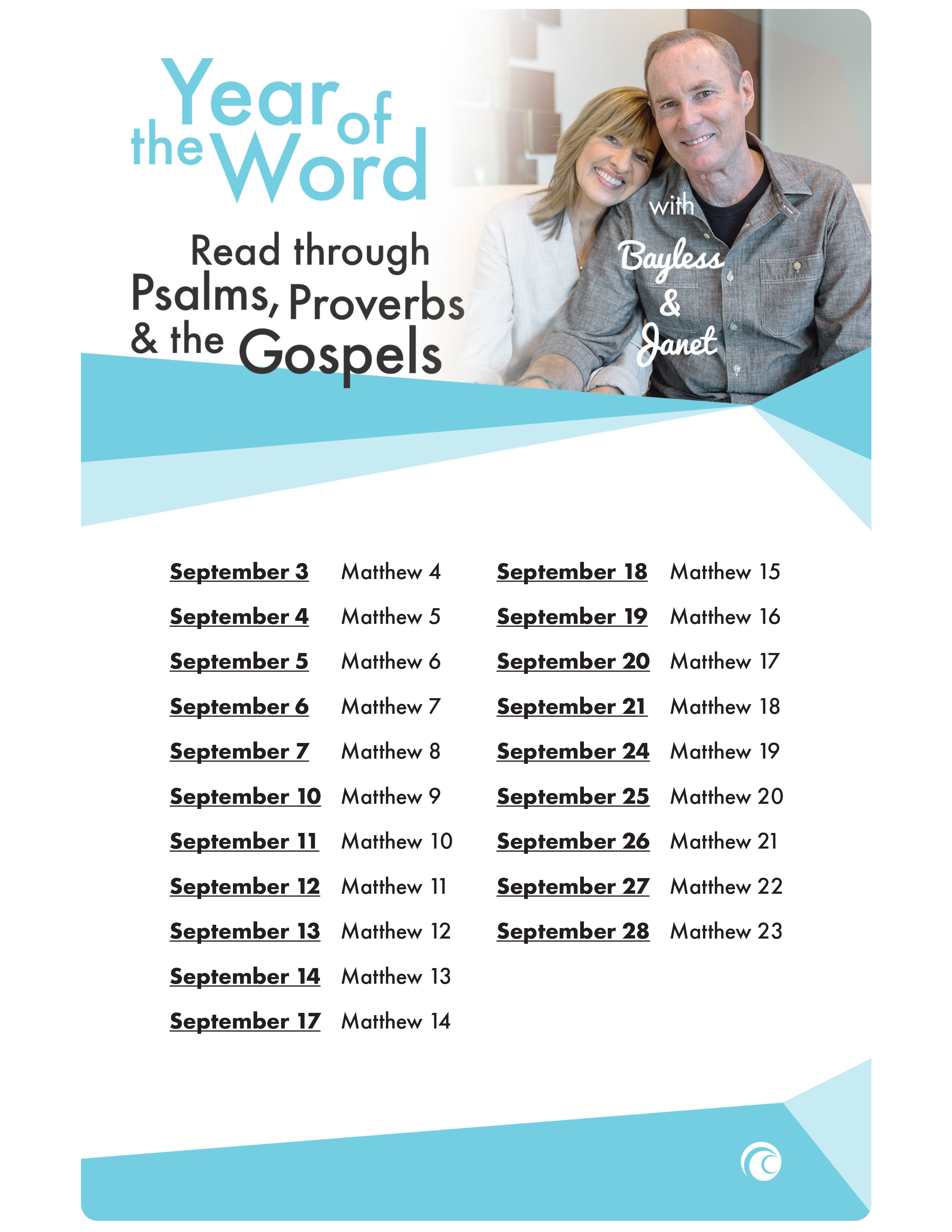 Psalms Proverbs Gospels September 2018